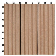 Composite wood plastic deck tile